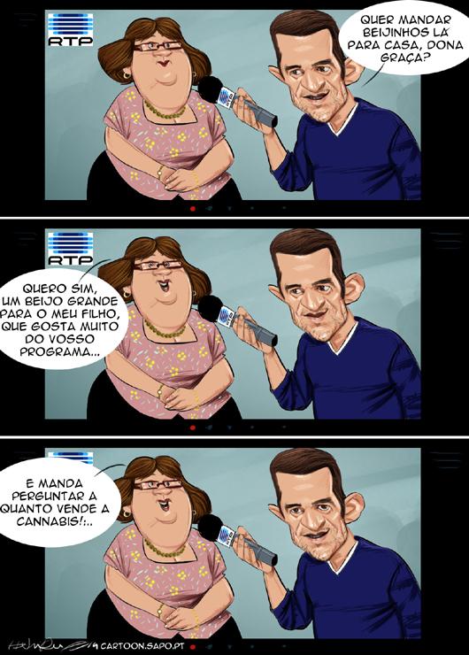 Cartoons - Pepê Rapazote e o prémio em cartão para comprar droga