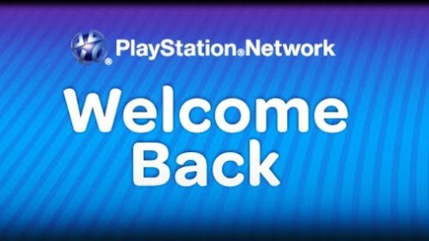 Welcome Back-PSN
