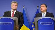 Durão Barroso após uma reunião com o Presidente ucraniamo, Petro Poroshenko