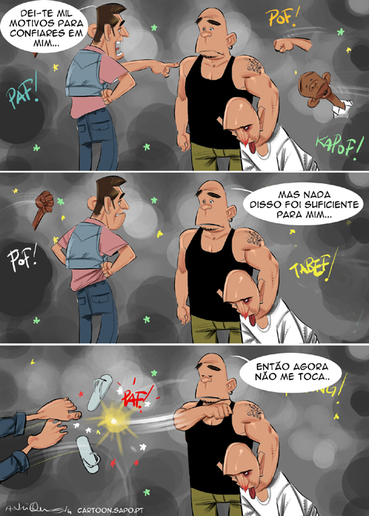 Cartoons - Anselmo Ralph - Pancada - Cascais
