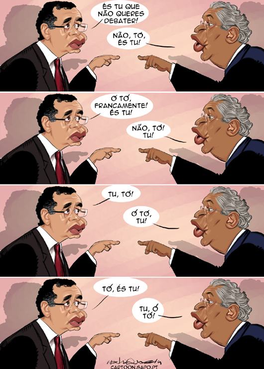 Cartoons - Debater entre António José Seguro e António Costa