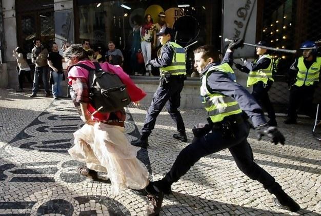 Confrontos em Lisboa entre polícia e manifestantes